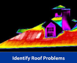 Identifying roof problems with heat map
